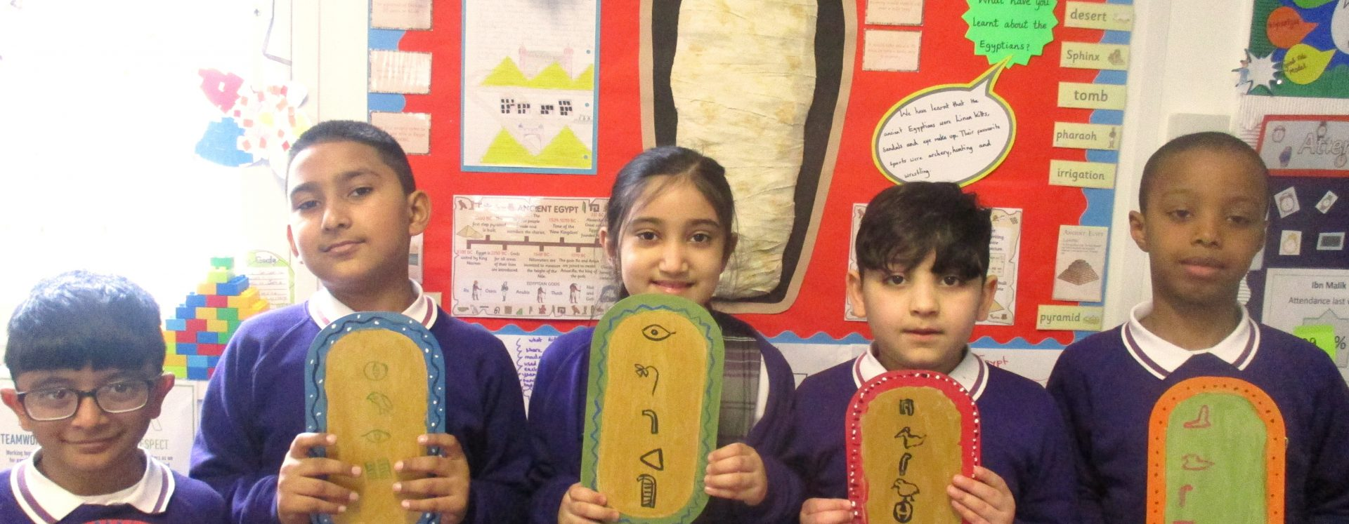 Pupils have a 'pharaoh' time in Egypt workshop